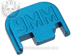 Blue Glock Slide Plate Gen 1-4 9Mm 3D Sub