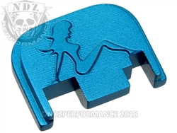Blue Glock Slide Plate Gen 1-4 Trucker Girl  Sub