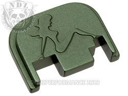 Green Glock Slide Plate Gen 1-4 Trucker Girl  Sub