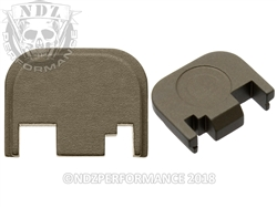 Glock Gen 1-4 Custom HC FDE Rear Slide Plate