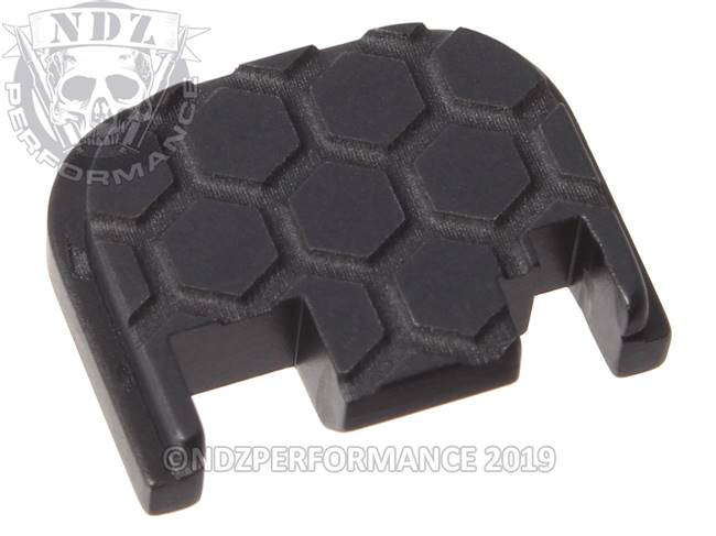 NDZ Black Glock Gen 1-4 Rear Slide Cover Plate  Honey Comb