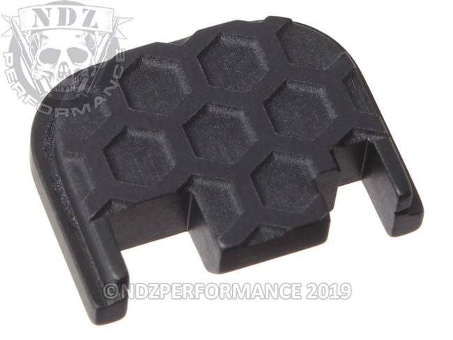 NDZ Black Glock Gen 1-4 Rear Slide Cover Plate  Honey Comb Inverse