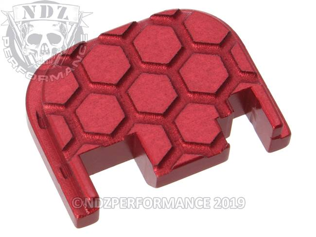 NDZ Red Glock Gen 1-4 Rear Slide Cover Plate  Honey Comb
