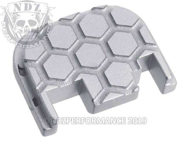 NDZ Silver Glock Gen 1-4 Rear Slide Cover Plate  Honey Comb