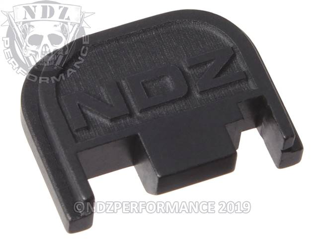 NDZ Black Glock Gen 1-4 Rear Slide Cover Plate