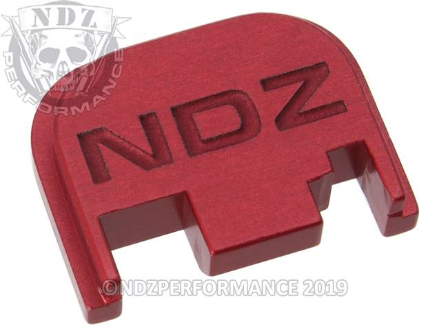NDZ Red Glock Gen 1-4 Rear Slide Cover Plate  Inverse