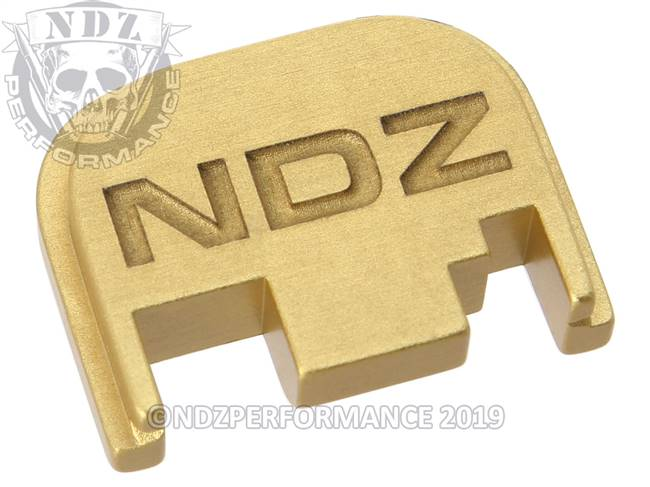 NDZ True Gold Glock Gen 1-4 Rear Slide Cover Plate  Inverse