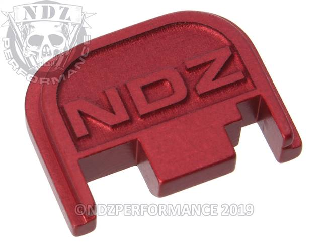 NDZ Red Glock Gen 1-4 Rear Slide Cover Plate