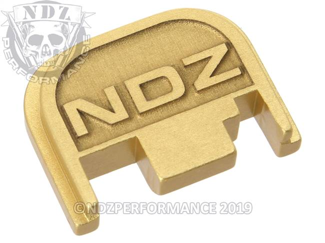 NDZ True Gold Glock Gen 1-4 Rear Slide Cover Plate