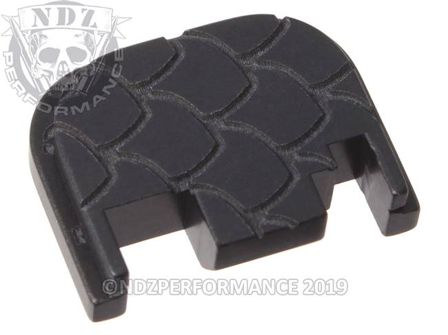 NDZ Black Glock Gen 1-4 Rear Slide Cover Plate  Scales