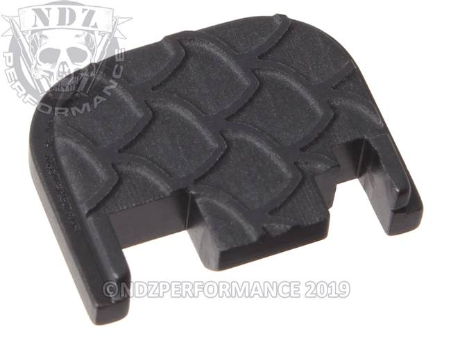NDZ Black Glock Gen 1-4 Rear Slide Cover Plate  Scales Inverse