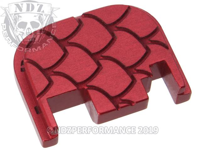 NDZ Red Glock Gen 1-4 Rear Slide Cover Plate  Scales