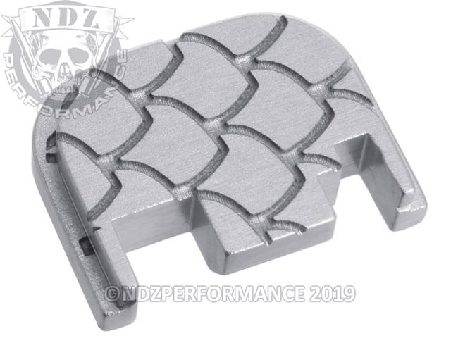 NDZ Silver Glock Gen 1-4 Rear Slide Cover Plate  Scales