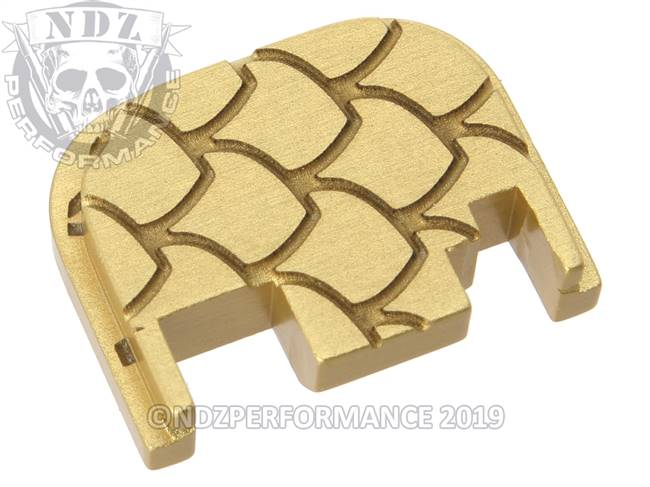 NDZ True Gold Glock Gen 1-4 Rear Slide Cover Plate  Scales