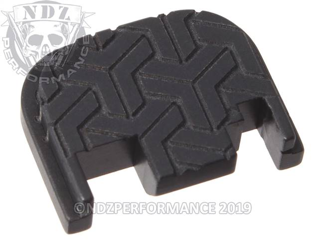 NDZ Black Glock Gen 1-4 Rear Slide Cover Plate  TriWeave