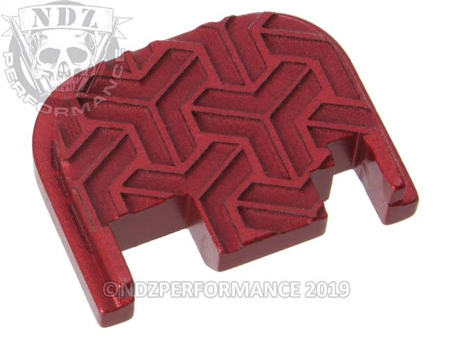 NDZ Red Glock Gen 1-4 Rear Slide Cover Plate  TriWeave Inverse