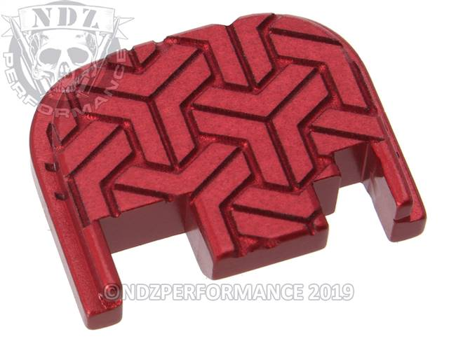NDZ Red Glock Gen 1-4 Rear Slide Cover Plate  TriWeave