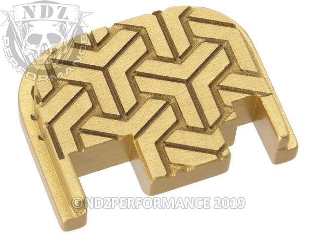 NDZ True Gold Glock Gen 1-4 Rear Slide Cover Plate  TriWeave