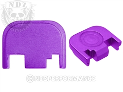 NDZ Purple Glock Back Plate fits Gen 1-4 (*LZ)