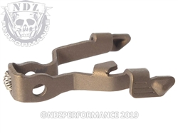 Glock Extended Slide Release for 17 19 26 34 Gen 5 Burnt Bronze