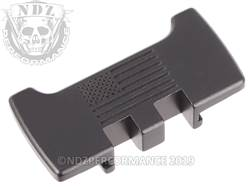 NDZ Glock 1-5 Slide Racker Plate US Flag Black