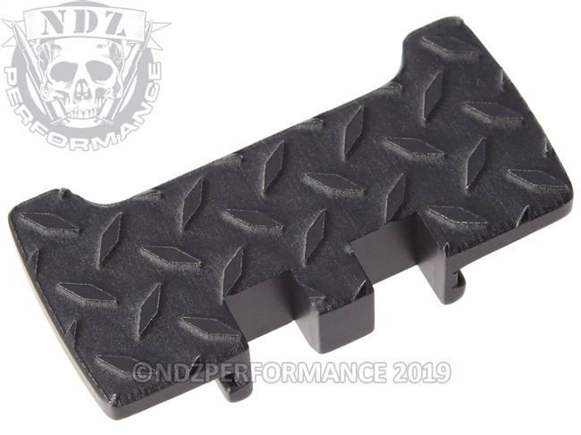 NDZ Black Glock Gen 1-5 Rear Slide Racker Plate  Diamond Cut