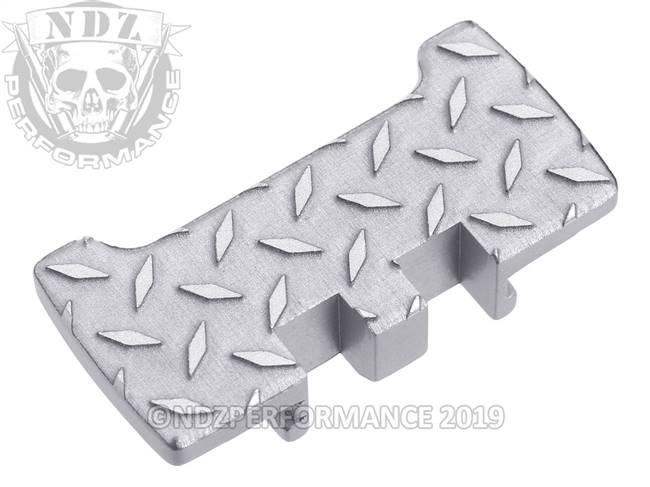 NDZ Silver Glock Gen 1-5 Rear Slide Racker Plate  Diamond Cut