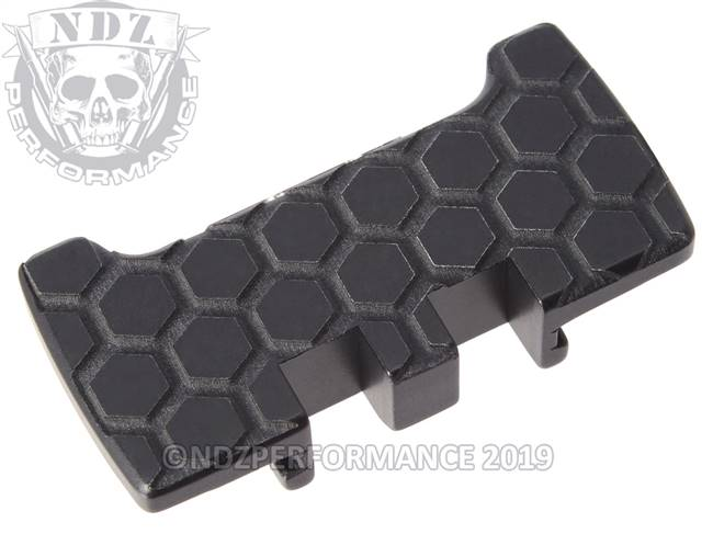 NDZ Black Glock Gen 1-5 Rear Slide Racker Plate  Honey Comb