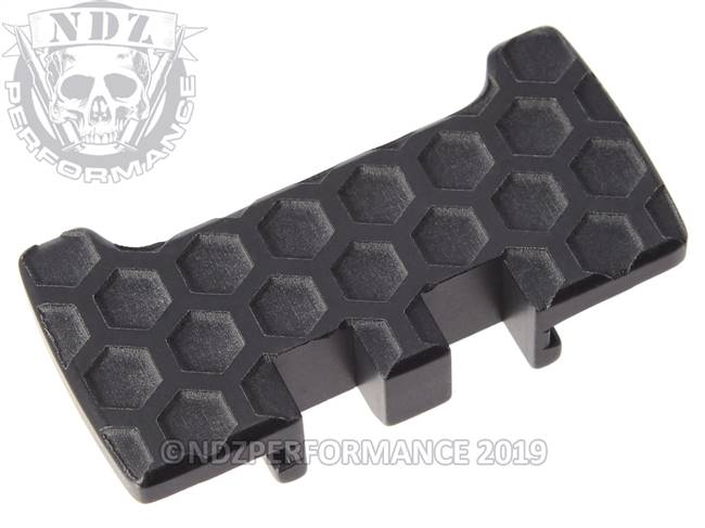 NDZ Black Glock Gen 1-5 Rear Slide Racker Plate  Honey Comb Inverse