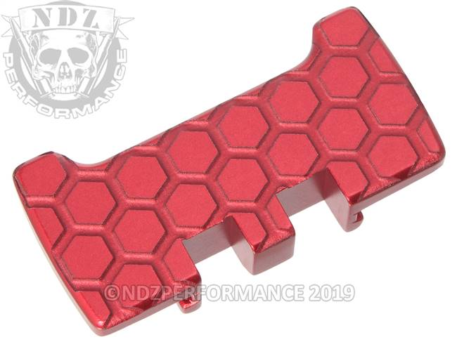 NDZ Red Glock Gen 1-5 Rear Slide Racker Plate  Honey Comb