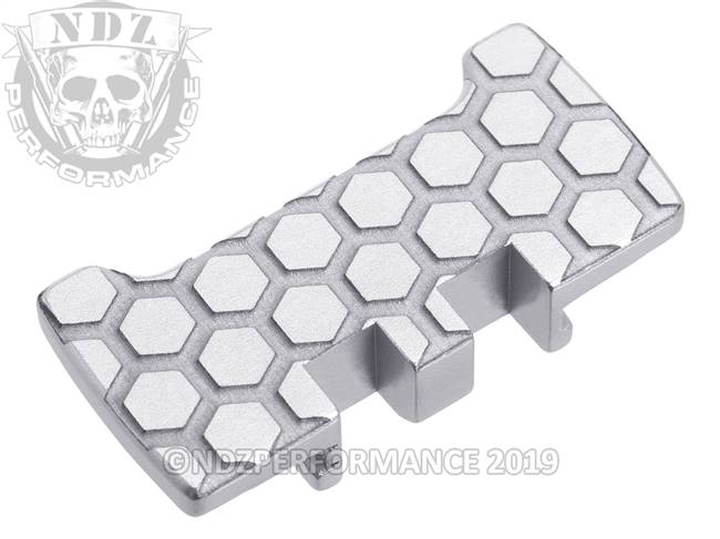 NDZ Silver Glock Gen 1-5 Rear Slide Racker Plate  Honey Comb