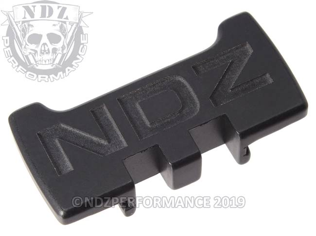 NDZ Black Glock Gen 1-5 Rear Slide Racker Plate Inverse