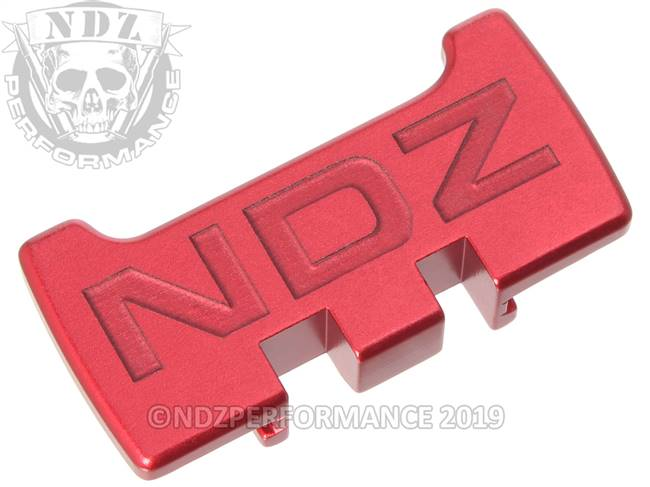 NDZ Red Glock Gen 1-5 Rear Slide Racker Plate  Inverse