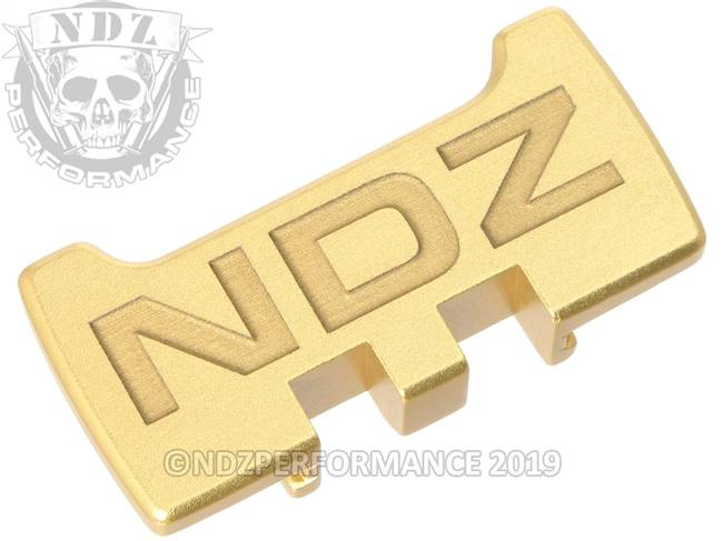 NDZ True Gold Glock Gen 1-5 Rear Slide Racker Plate  Inverse