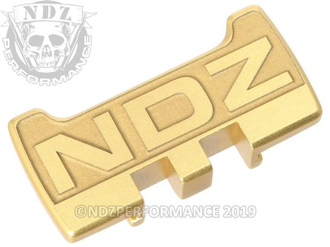 NDZ True Gold Glock Gen 1-5 Rear Slide Racker Plate