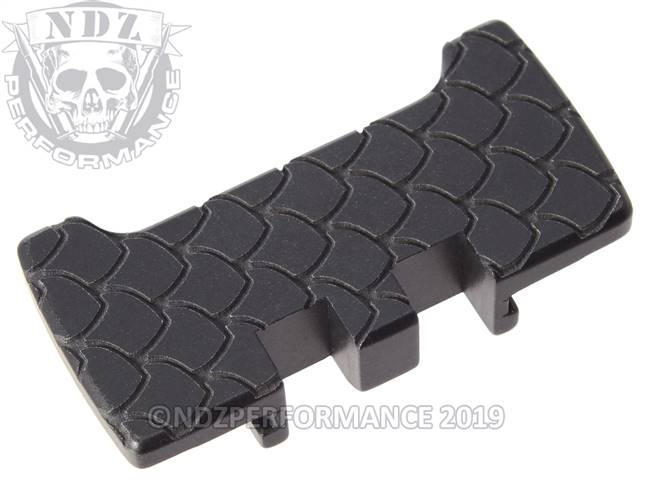 NDZ Black Glock Gen 1-5 Rear Slide Racker Plate  Scales