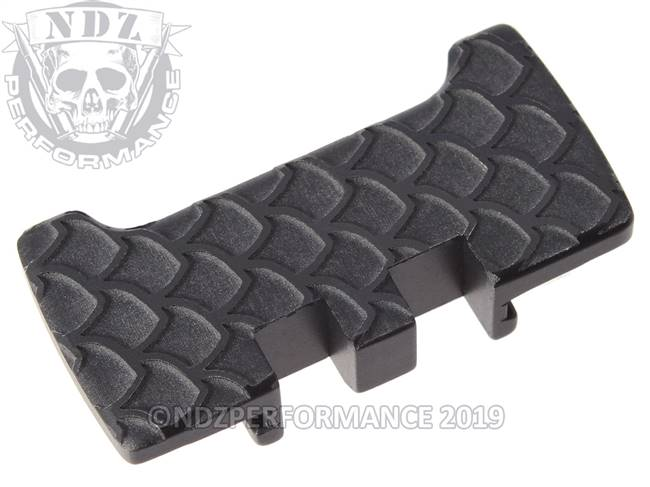 NDZ Black Glock Gen 1-5 Rear Slide Racker Plate  Scales Inverse