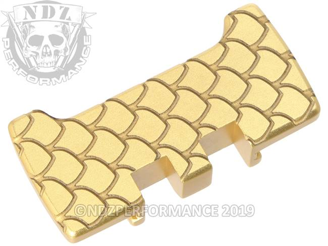 NDZ True Gold Glock Gen 1-5 Rear Slide Racker Plate  Scales