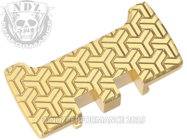 NDZ True Gold Glock Gen 1-5 Rear Slide Racker Plate  TriWeave