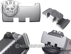 NDZ Silver Slide Racker Plate for Glock Gen 1-5 (*LZ)