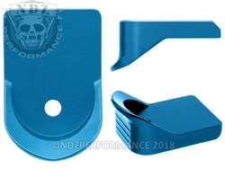 NDZ Blue Magazine Plate Finger Extension for Glock 26 27 33 39 (*LZ)
