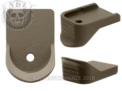 NDZ HC FDE Magazine Plate Finger Extension for Glock 26 27 33 39 Gen 1-5 (*LZ)