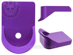 NDZ Purple Magazine Plate Finger Extension for Glock 26 27 33 39 (*LZ)
