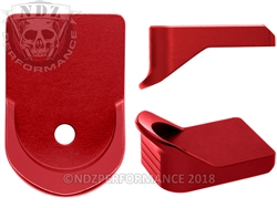NDZ Performance Glock 26, 27, 33 & 39 Red Finger Extension Mag Plate
