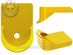 NDZ Gold Magazine Plate Finger Extension for Glock 26 27 33 39 (*LZ)
