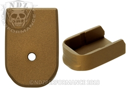 NDZ Magazine Base Plate For Glock 30 10 Round Magazine Cerakote Burnt Bronze