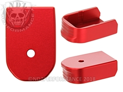 NDZ Red Magazine Plate for Glock 30 10 Round Magazine (*LZ)