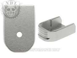 NDZ Silver Magazine Base Plate For Glock 30 10 Round Magazine