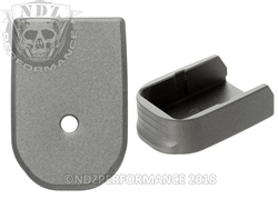 NDZ Magazine Base Plate For Glock 30 10 Round Magazine Cerakote Tungsten