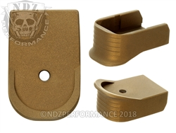 NDZ Magazine Base Plate Finger Extension For Glock 30 10-Round Cerakote Burnt Bronze
